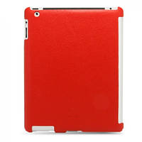 Чехол-накладка Melkco Leather Snap Cover Red LC for iPad 2 (APIPA2LOLT1RDLC)
