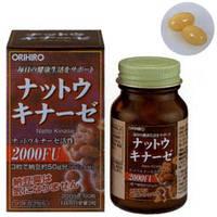ORIHIRO Natto Kinase НаттоКиназа, для очищения сосудов и поддержки сердца, 60 таб. (на 20 дней).