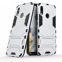 Чехол Huawei P20 Lite / Nova 3E / ANE-AL00 / ANE-TL00 Hybrid Armored Case светло-серый