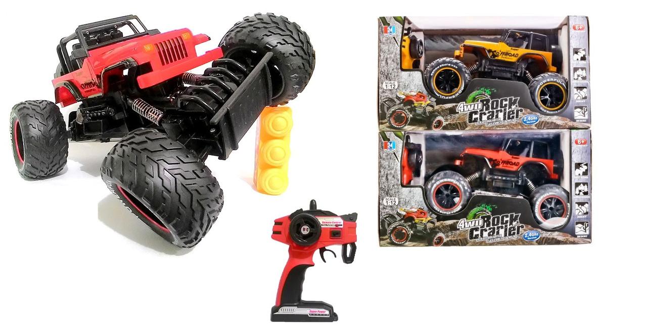 Джип на радіокеруванні Rock Crawler 689-355, амортизатори, масштаб 1:12, машинка всюдихід