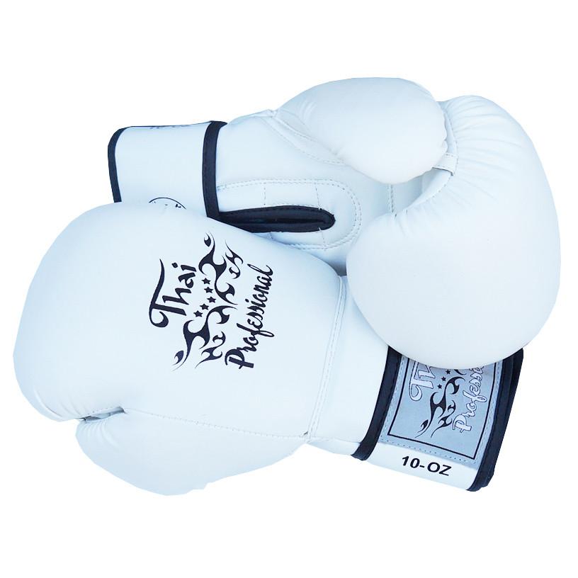 Боксерские перчатки Thai Professional BG3 Белые