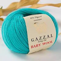 Пряжа из кашемира Gazzal Baby wool 832 изумруд (Газзал Беби вул)