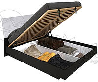Кровать с мягким изголовьем и подъемным механизмом Терра / Terra MiroMark 180х200 черный / белый