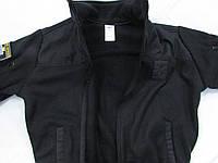 """Флисовая кофта для полиции """"milt-3/2"""" черная с накладками на плечах и локтях"""