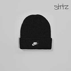 Шапка Nike черного цвета  (люкс копия)