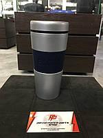 Термокружка BMW Logo Thermal Mug Silver Dark Blue, 80282454639. Оригинал., фото 1