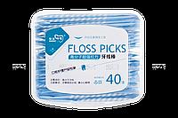 Зубочистки флостик с зубной нитью 40 шт./уп.