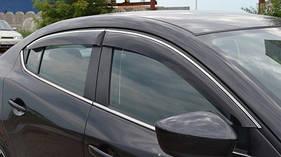 Наружняя окантовка стекол Hatchback (OmsaLine, нерж.) - Citroen C-4 2005-2010 гг.