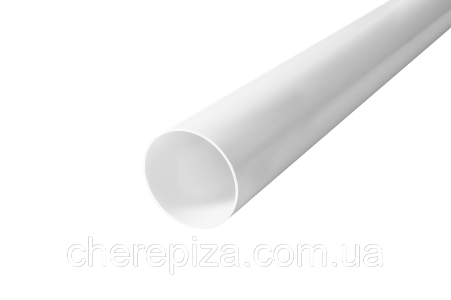 Труба водостічна Profil 75 біла 4м
