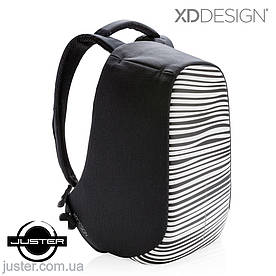 Рюкзак Bobby Compact для ноутбука 14 XD Design антивор с принтом зебра (P705.651)