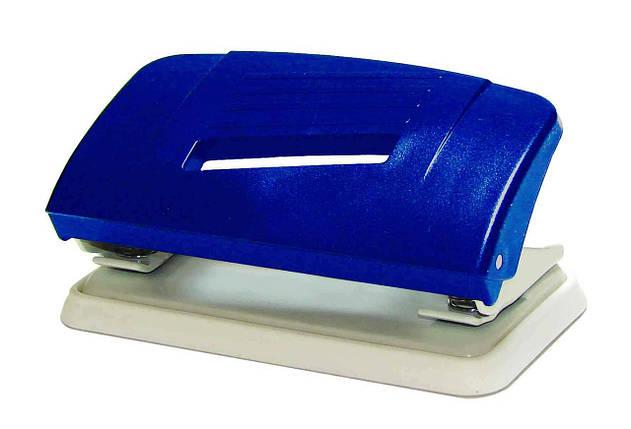 Дирокол пластиковий Norma, 4327, 8 см, 10 аркушів, синьо-сірий, фото 2