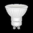 LED лампа Maxus MR16 5W теплый свет 220V GU10 (1-LED-517), фото 2