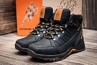 Мужские зимние кожаные ботинки NS Black реплика