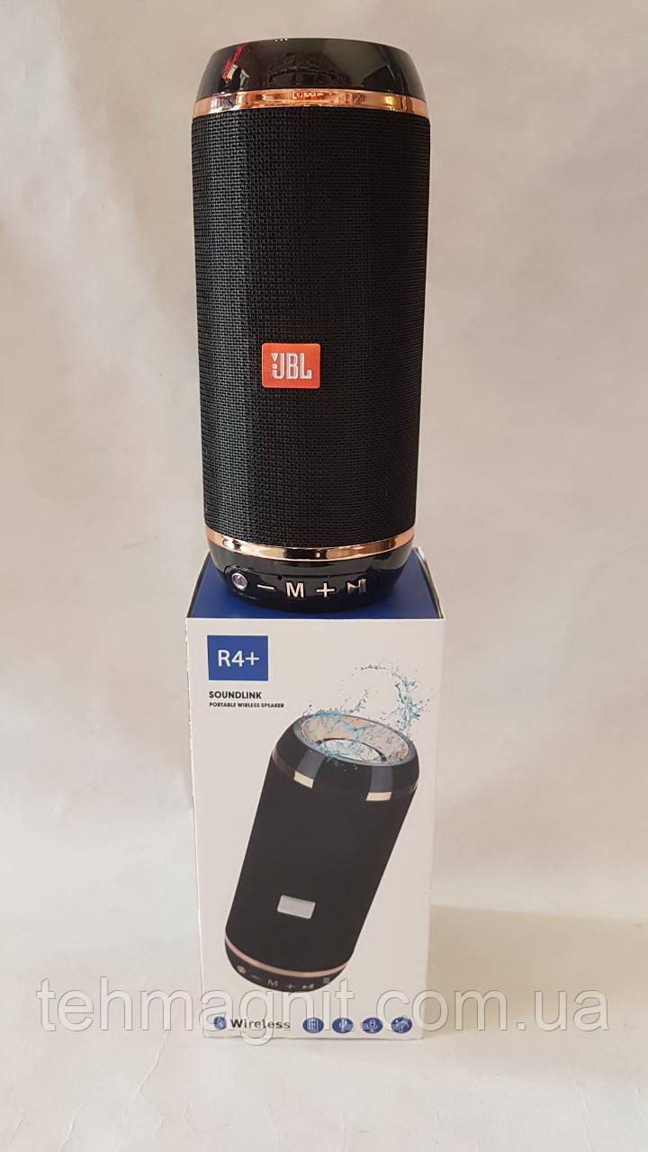 Колонка R4+ , портативная акустическая система безпроводная с MP3, SD, USB, FM и Bluetooth