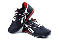 Мужские кожаные кроссовки Anser Reebok NS black (реплика)
