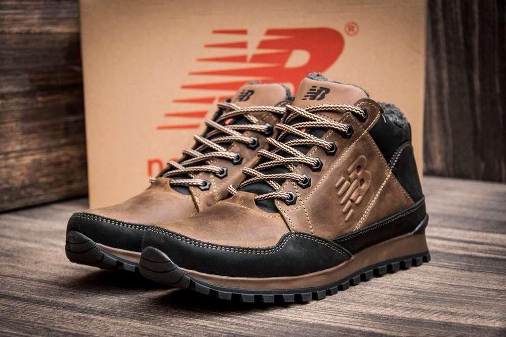 Мужские зимние кожаные кроссовки в стиле New Balance Clasic Brown ... 680d375e5b9