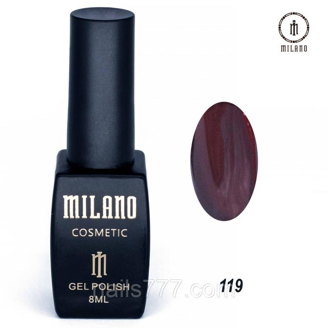 Гель-лак Milano 8 мл, № 119