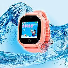 Дитячі розумні годинник з GPS трекером TD05 Водонипроницаемые Pink