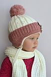 Зимовий теплий в'язаний шарф, фото 9