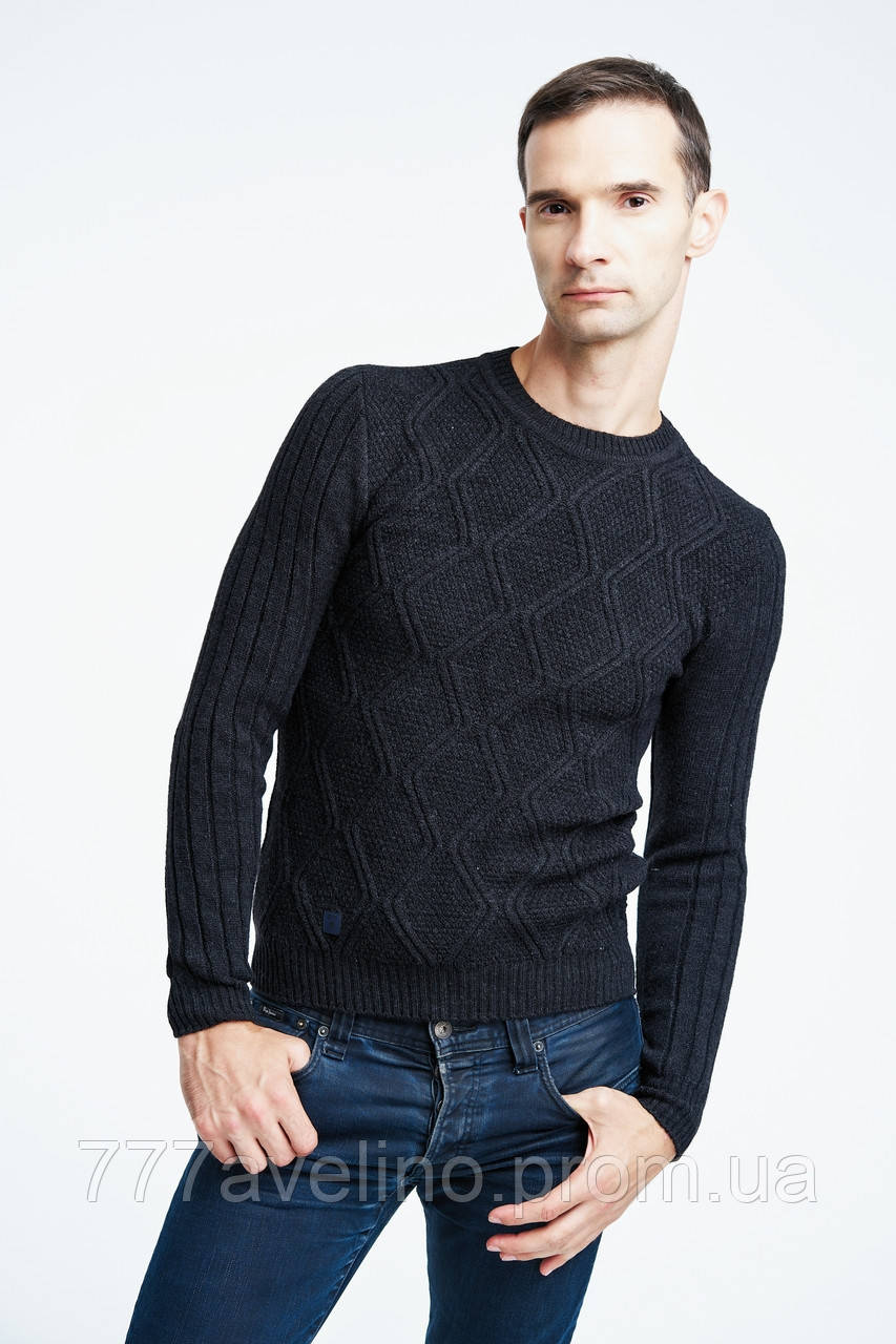 Мужской шерстяной  свитер модный