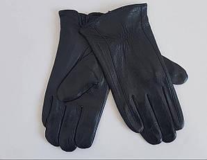Зимние мужские перчатки черного цвета