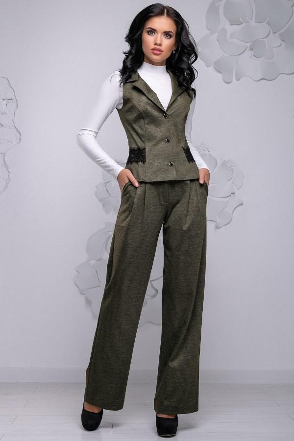 0ba671ac7c9 Женский деловой брючный костюм с жилеткой КТ-331 - Lace Secret - Магазин  женского белья