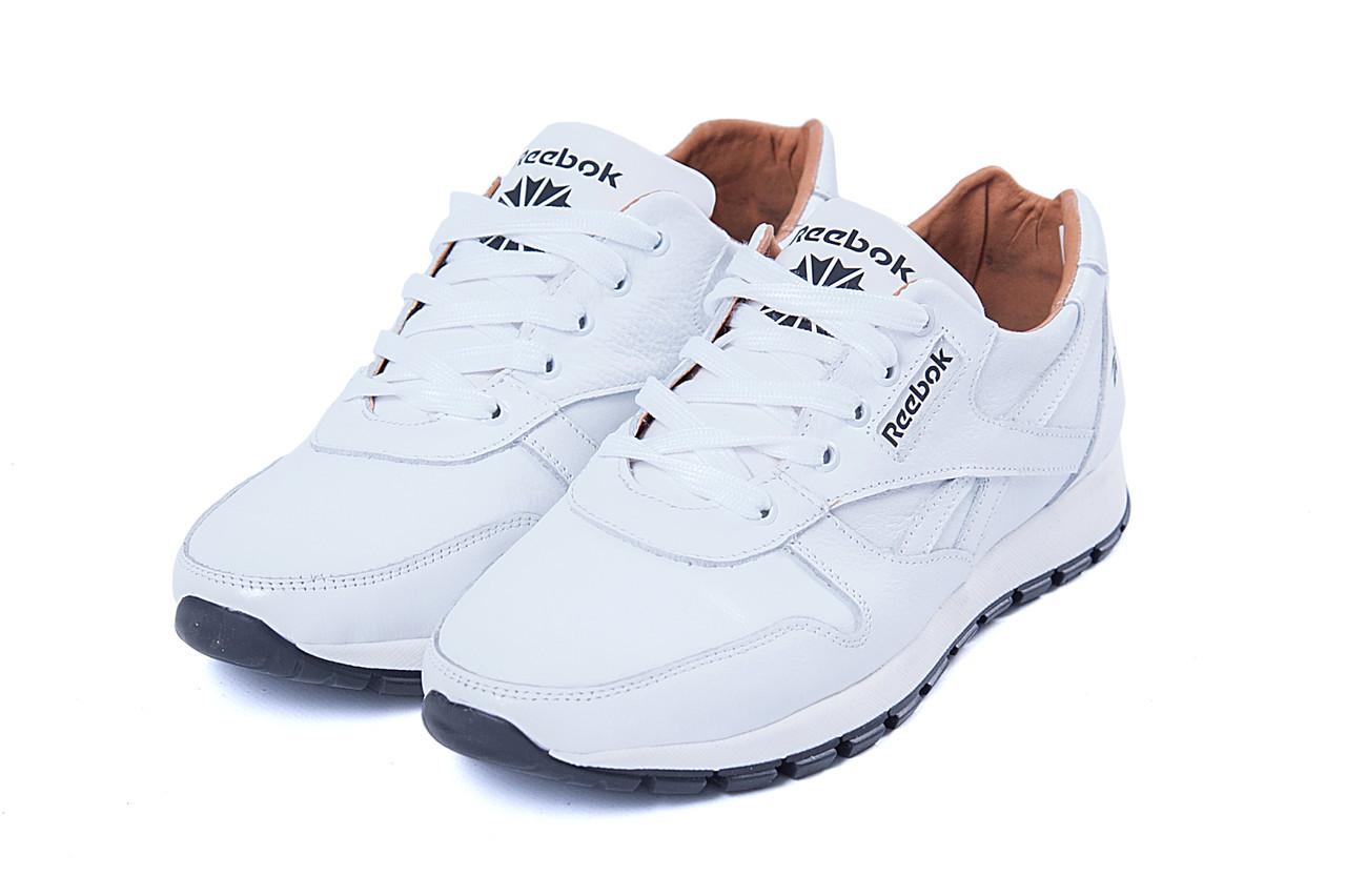 902bd2a7b Мужские кожаные кроссовки Reebok Classic White Pearl (реплика) -  Интернет-магазин