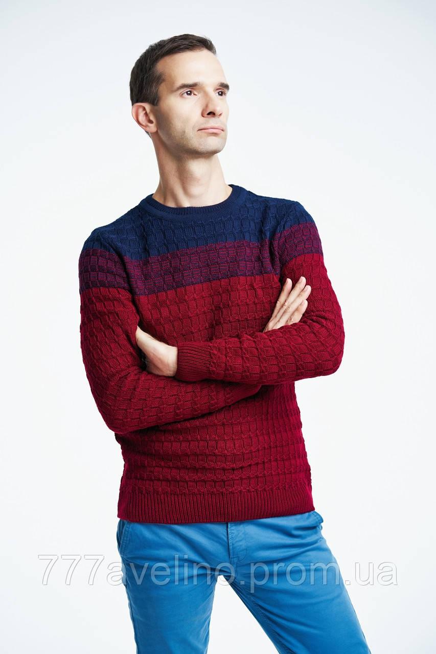 Мужской теплый свитер стильный