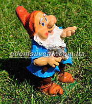 Садовая фигура Гном плотник малый, фото 3