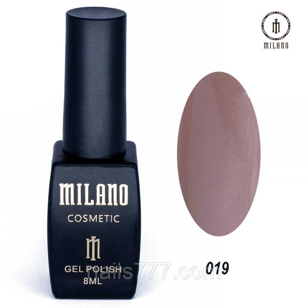 Гель-лак Milano 8 мл, № 019