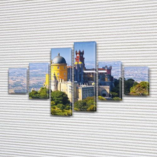 Модульная картина Дворец Пена на ПВХ ткани, 80x135 см, (30x20-2/40х20-2/75x20-2)