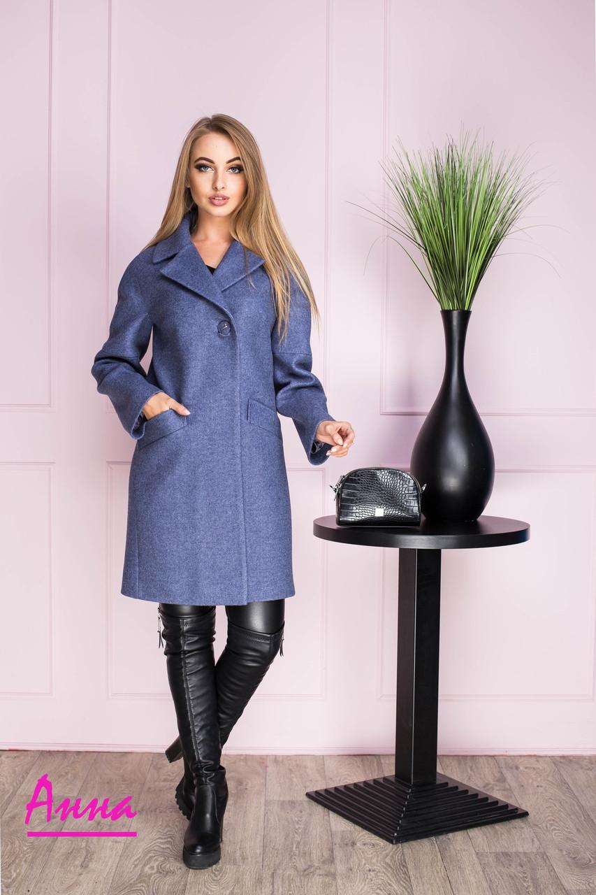 Женское шерстяное пальто прямого кроя 6402124