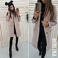 Кашемировое женское пальто на флисе 6602125