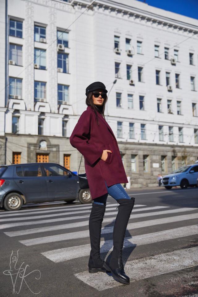 Кашемировое женское пальто оверсайз 6002129