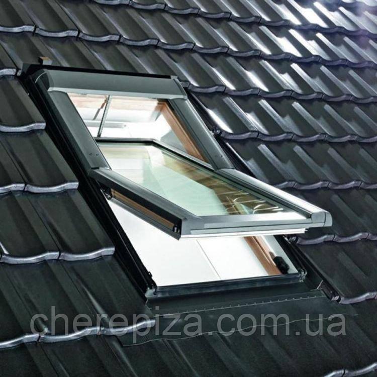Вікно мансардне Designo WDT R65 H N WD AL 05/09 EF