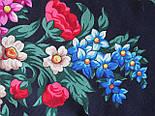 День Победы 235-14, павлопосадский платок (шаль) из уплотненной шерсти с шелковой вязанной бахромой, фото 9