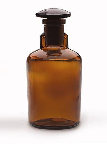 Бутыль для реактивов с пришлифованной пробкой, узкое горло, темная 30 мл, стекло, фото 2