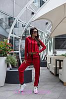 Трикотажный женский спортивный костюм с укороченный топом 205482, фото 1