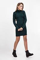 Очень теплое вязаное платье для работы