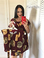 Домашний набор для мамы и дочки халаты в принт 512119, фото 1