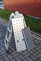 Лестница алюминиевая, 4x4 Higher, платформа, фото 2