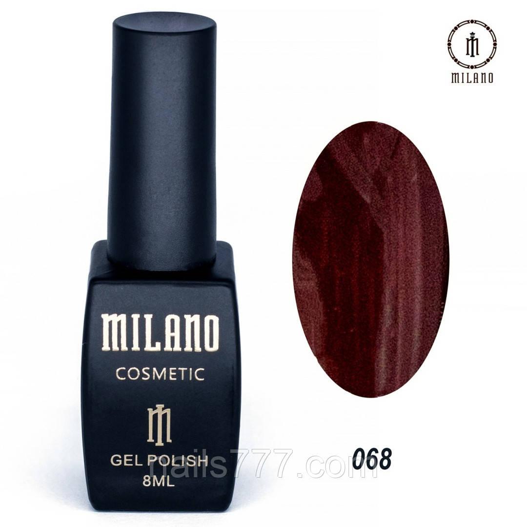 Гель-лак Milano 8 мл, № 068