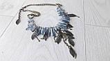 """Колье """"Голубой Кварц с титановым покрытием и бронза"""", фото 9"""