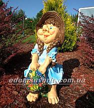 Садовая фигура Гном Скромница, фото 2