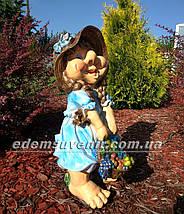 Садовая фигура Гном Скромница, фото 3