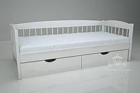 """Кровать одноярусная  """"Кантри"""" White. Ясень., фото 1"""
