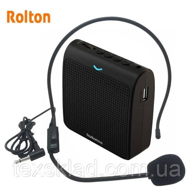 Громкоговоритель на пояс Rolton K100 (TF Card/USB/FM/Аккумулятор)