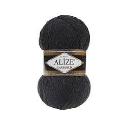 Пряжа Лана голд Lanagold Alize, № 151, т. серый меланж