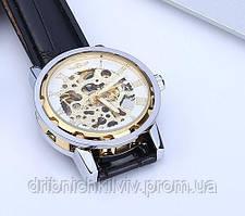 Часы Winner Золотые с белым. Механика