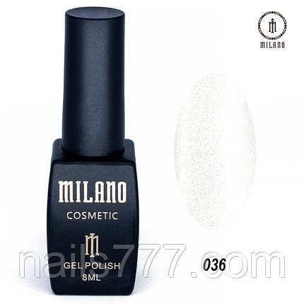 Гель-лак Milano 8 мл, № 036, фото 2